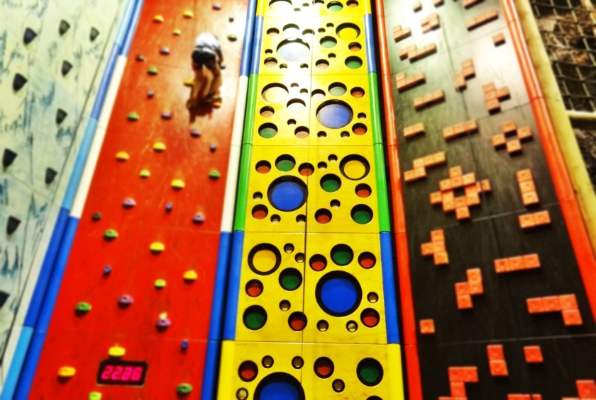 For indoor entertainment, try Clip & Climb.
